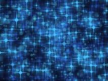 Hintergrund mit blauen Sternen Stockfotos