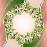 Hintergrund mit Blume Wreath lizenzfreie abbildung