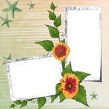 Hintergrund mit Blumen Stock Abbildung