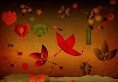 Hintergrund mit Blumen Lizenzfreie Stockfotografie