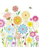Hintergrund mit Blumen Stockbild