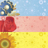 Hintergrund mit Blumen Lizenzfreie Stockfotos