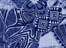 Hintergrund mit Blumen und abstrakten geometrischen Formen Stockfoto