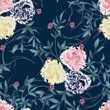 Hintergrund mit Blumen und Blättern Stockbilder