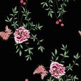 Hintergrund mit Blumen und Blättern Stockfotografie