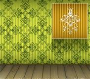 Hintergrund mit Blumendekoration und hölzernem Fußboden Lizenzfreies Stockbild