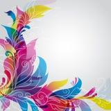 Hintergrund mit Blumenverzierung Lizenzfreies Stockbild