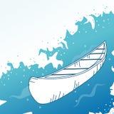 Hintergrund mit Boot. Lizenzfreies Stockfoto