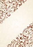 Hintergrund mit braunem Muster Stockbild