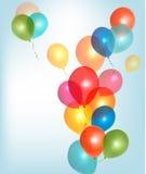 Hintergrund mit bunten Ballonen. Lizenzfreie Stockfotografie