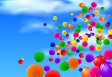 Hintergrund mit bunten Ballonen Lizenzfreie Stockbilder