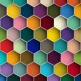 Hintergrund mit bunten Hexagonen Stockbild