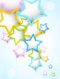 Hintergrund mit bunten Sternen vektor abbildung
