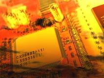 Hintergrund mit Chips Lizenzfreies Stockbild