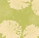Hintergrund mit Chrysanthemen und Innerem Lizenzfreies Stockfoto