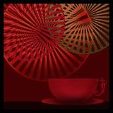 Hintergrund mit dekorativem illustrati Elemente des Tasse Kaffee-Tees Lizenzfreies Stockbild