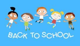 Hintergrund mit dem Bild von lustigen Kindern Lizenzfreies Stockfoto