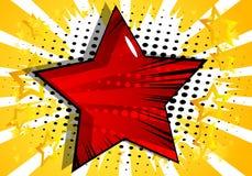 Hintergrund mit dem großen Stern gefüllt mit Comic-Buch-Effekt stock abbildung