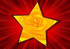 Hintergrund mit dem großen Stern gefüllt mit Comic-Buch-Effekt vektor abbildung