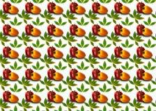 Hintergrund mit dem nahtlosen Muster, bestanden aus Pfeffern und Blättern lizenzfreie stockbilder