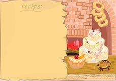 Hintergrund mit dem Rezept Stockbild