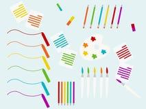 Hintergrund mit dem Schulbedarf eingestellt, Vektorillustration Lizenzfreies Stockbild