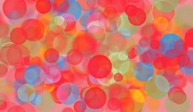 Hintergrund mit den Blasen und Höhepunkten, rot lizenzfreie stockfotos