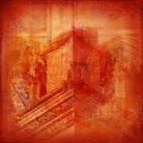 Hintergrund mit den Elementen von gotischem Stockfoto