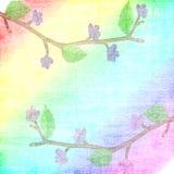 Hintergrund mit den Florets, Blätter Vektor Abbildung