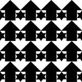 Hintergrund mit den Sternen sechs gezeigt und den Pfeilen Lizenzfreies Stockbild