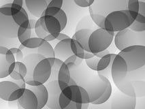Hintergrund mit den weißen, grauen, schwarzen Kreisen Stockfotografie