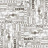 Hintergrund mit der Kaffeewerbung vektor abbildung