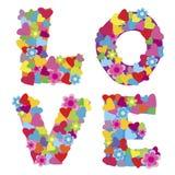 Hintergrund mit der Wort Liebe vektor abbildung