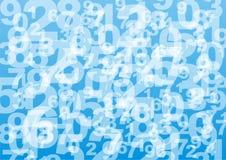 Hintergrund mit Digits lizenzfreies stockbild