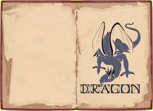 Hintergrund mit Drachen Stockfotografie