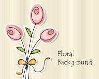 Hintergrund mit drei abstrakten Blumen Lizenzfreie Stockfotografie
