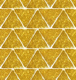 Hintergrund mit Dreiecken des goldenen Funkelns, nahtloses Muster Lizenzfreies Stockbild