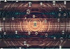 Hintergrund mit einem abstrakten Muster, Kreisen und Bereichen Stockfoto