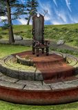Hintergrund mit einem Fantasiethron Stockbild