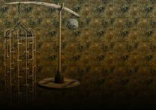 Hintergrund mit einem Käfig Lizenzfreies Stockbild
