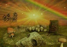 Hintergrund mit einem Märchenland Lizenzfreies Stockfoto