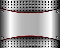 Hintergrund mit einem Metallplatten- und einem Grill Lizenzfreie Stockfotografie