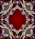 Hintergrund mit einem Muster des Edelsteinsilbers Stockfotografie