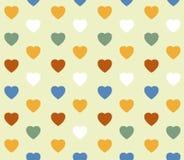 Hintergrund mit einem Muster von farbigen Herzen Stockbilder