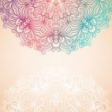Hintergrund mit einem runden natürlichen Muster Stockbilder