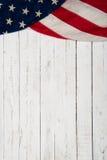 Hintergrund mit einer amerikanischen Flagge Lizenzfreies Stockbild