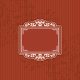 Hintergrund mit einer Musterweinleseart mit Rahmen Lizenzfreie Stockfotografie