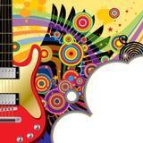Hintergrund mit einer roten Gitarre stock abbildung
