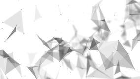 Hintergrund mit einer Schwarzweiss-Verwicklung von Flächen stock video footage