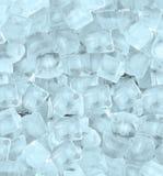 Hintergrund mit Eiswürfelblaulicht Stockfotografie